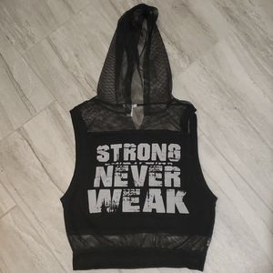 Forever 21 black top gym workout